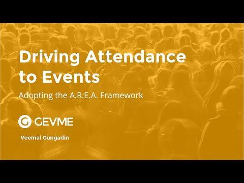 Driving Attendance to Events Using the A.R.E.A Framework Talk