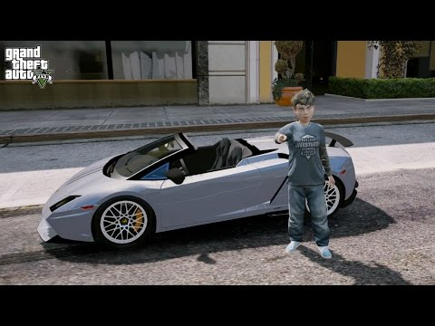GTA 5 REAL LIFE CHILD MOD#45-LAMBORGHINI GALLARDO RC SUPER CAR