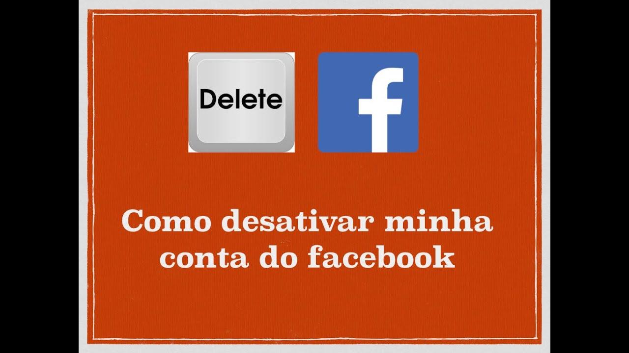 0524839d9f Como desativar minha conta do facebook - YouTube