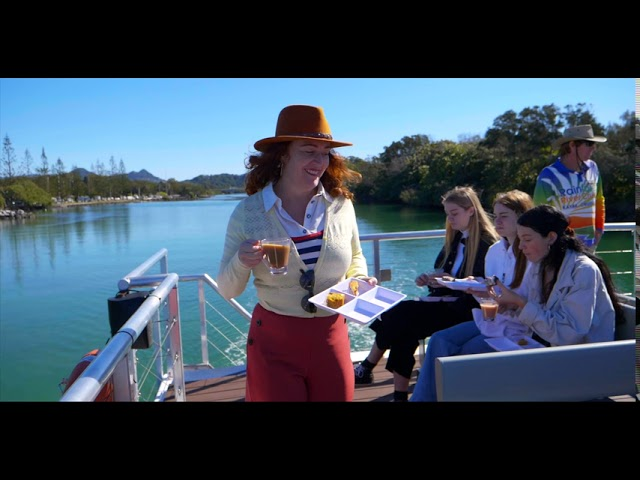 Morning Tea on the river boat
