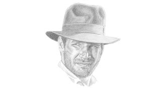 Indiana Jones (Harrison Ford) Portrait Drawing