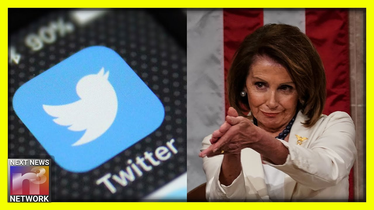 WOW! Nancy Pelosi APPLAUDS Twitter For Their SICK Move on President Trump