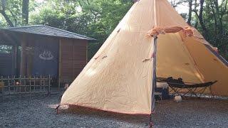 露天風呂付サイトでソロキャンプ
