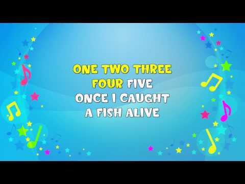 1 2 3 4 5 Once I Caught a Fish A  Sing A Long  Learning Song  Nursery Rhyme  KiddieOK