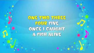 1 2 3 4 5 Once I Caught a Fish Alive | Sing A Long | Learning Song | Nursery Rhyme | KiddieOK