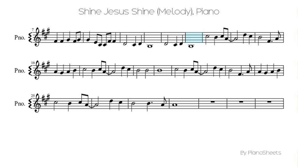Shine Jesus Shine (Melody) [Piano Solo] - YouTube