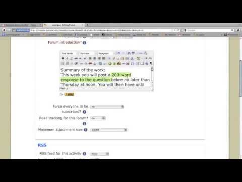 Creating a Discussion Forum in Moodle