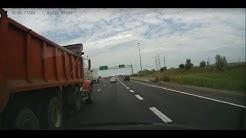 Dump truck accident avoided!! Toronto, Ontario.