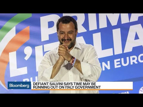 Italy's Salvini Says Time May Be Running Out on Government