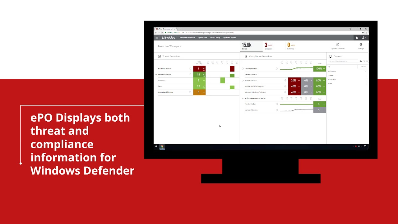 Windows Defender Management with McAfee