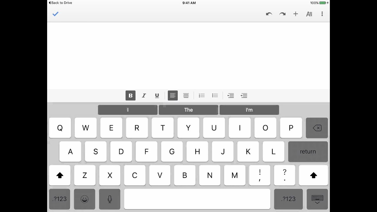 Adding and Formatting Text in the Google Docs iPad App