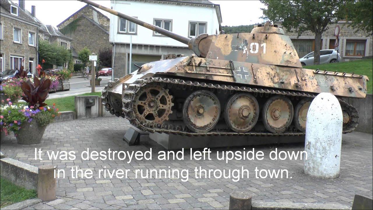 German Panzer V in Houffalize, Belgium