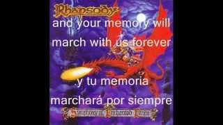 Rhapsody Symphony of Enchanted Lands lyrics (Español/inglés)