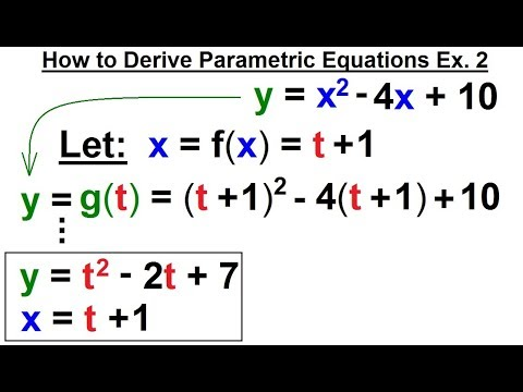 Calculus 2: Parametric Equations (7 of 20) How to Derive Parametric Equations Ex. 2