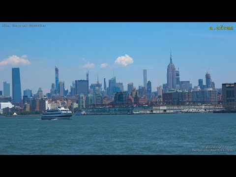 [4K] Sightseeing Cruise Around Manhattan Hudson River And East River New York USA