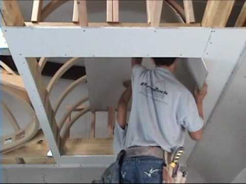How To Drywall A Barrel Vault Ceiling Archways