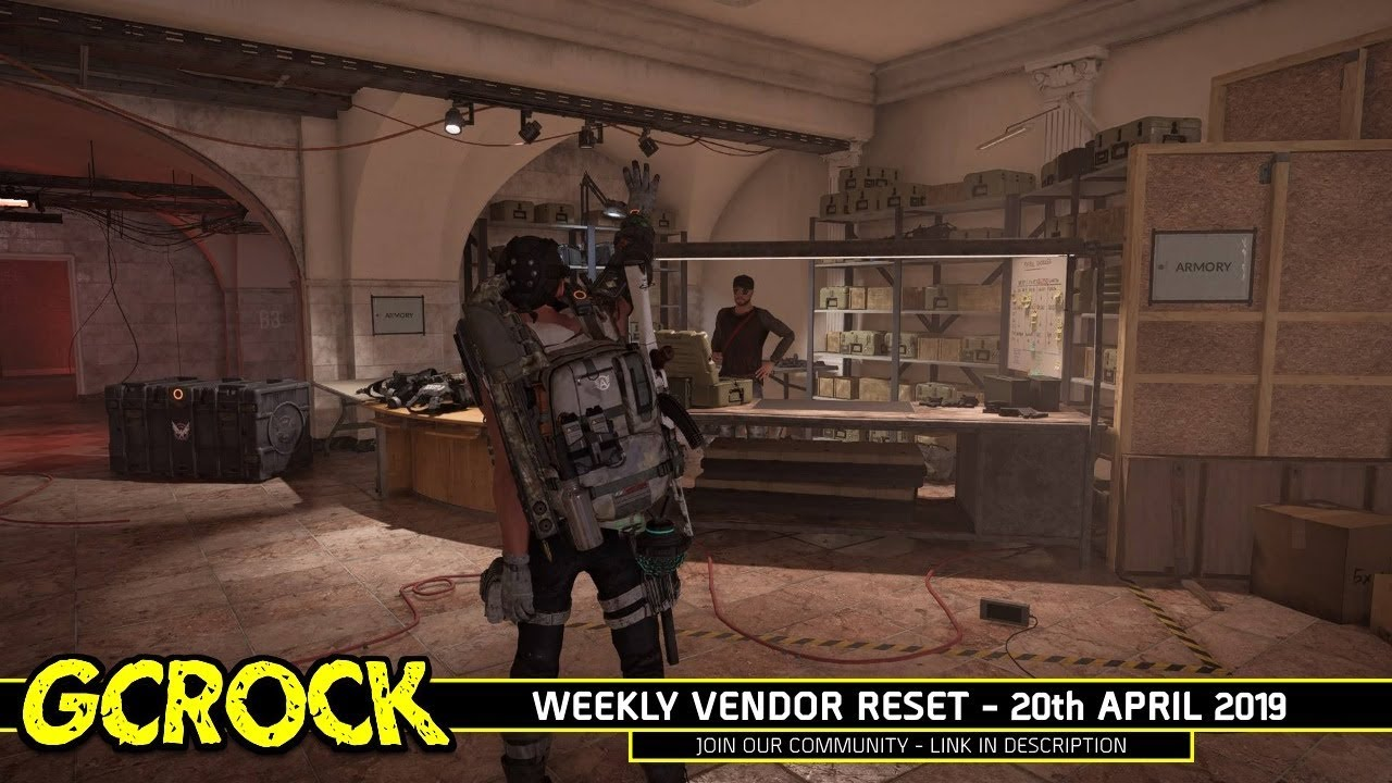 Weekly Vendor Reset - 20th April 2019 | The Division 2
