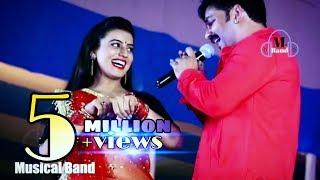 भर जाता ढोडी मोर पसीना से Pawan Singh, Akshara Singh Superhit Stage Show 2018 Sandesh