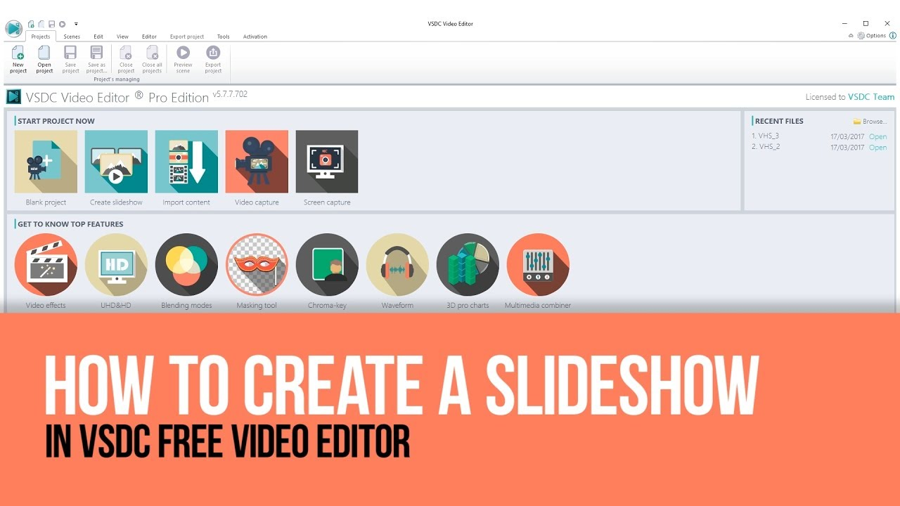 How to create a slideshow with VSDC Free Video Editor ...