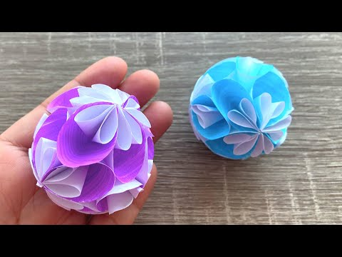 "DIY   How to Make Paper Flower Ball ""Kusudama"""