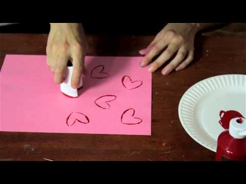 Preschool Project Ideas With Painting Hearts : Arts & Crafts for Kids