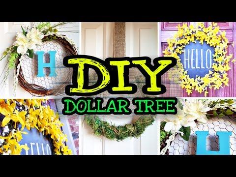 Dollar Tree DIY Farmhouse Decor Spring Wreaths