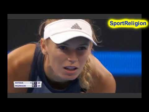 Petra KVITOVA VS Caroline WOZNIACKI WTA HIGHLIGHTS BEIJING 2017