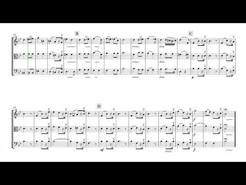Bridal Chorus (Here comes the bride) for Violin, Viola and Cello // Sheet Music - Score