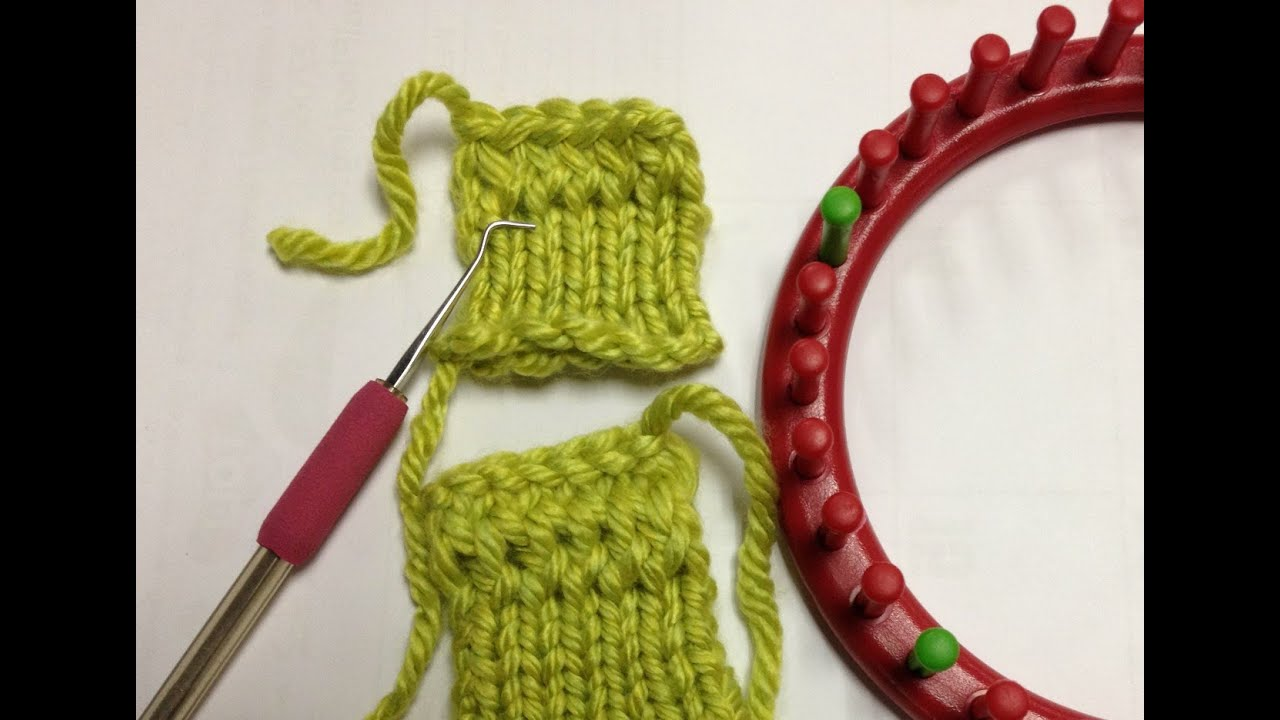 Loom Knit: Quick Half Hitch Cast on - YouTube