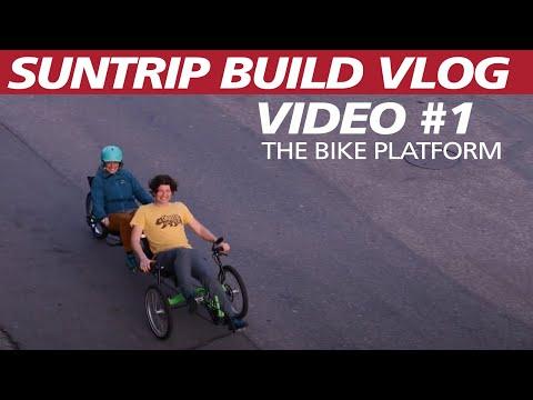 2018 Sun Trip Tandem Solar Trike Build. Video #1, the bike platform