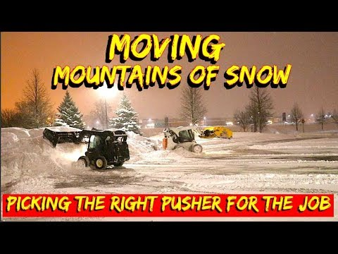 We have Tons of Heavy wet snow to plow- comparing snow pushers