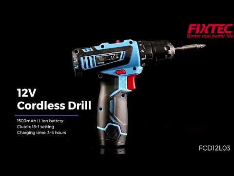 Taladro Inalámbrico Profesional 12V Modelo FCD12L03 Fixtec