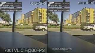 CIF VS D1 Using Real Time Recording DVR @ 30 FPS + 700TVL Surveillance CCTV Camera