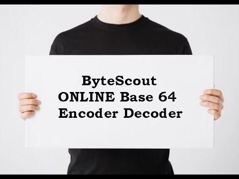 ByteScout ONLINE Base 64 Encoder Decoder - App Tutorial