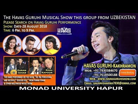 concert-28-08-2018-/-havas-guruhi-uzbekistan-/-hapur-india-/-monad-university/