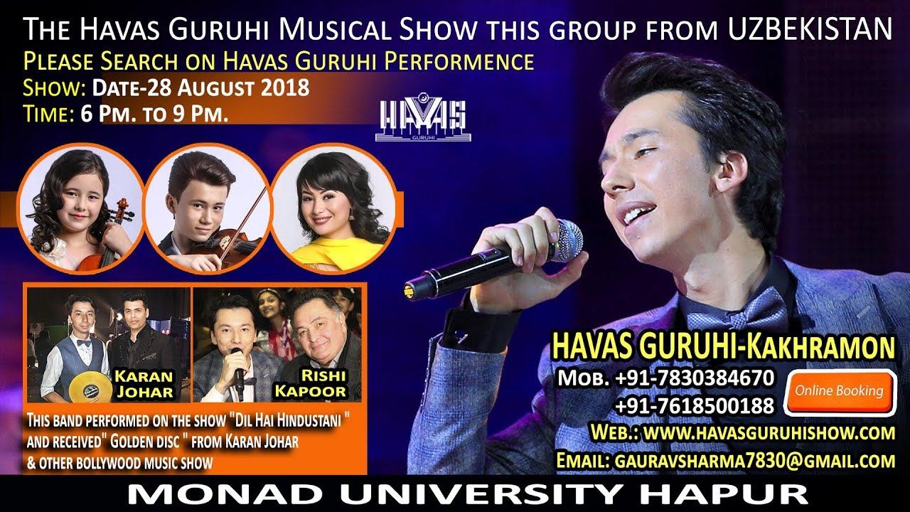 CONCERT 28-08-2018 / Havas guruhi-UZBEKISTAN / HAPUR-INDIA / MONAD UNIVERSITY/