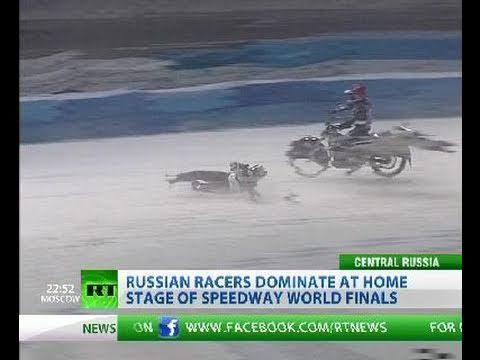 Cool Crashes: Hot action from Ice Racing World finals in Russia