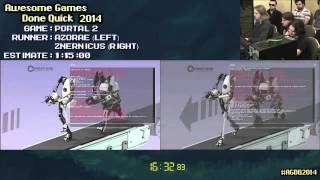 Portal 2 :: Live Co-op SPEED RUN [PC] ft. Azorae & Znernicus #AGDQ 2014
