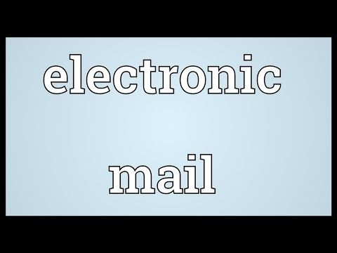 Electronic mail Meaning