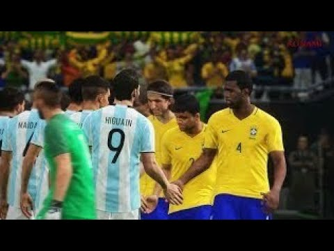 PES 2018 Official Gameplay Brasil vs Argentina
