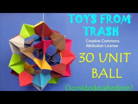 Modular Origami: 30 Unit PHiZZ Ball - Digital Culture 2016 - Medium | 360x480