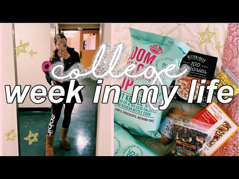 College Week In My Life // Productive, Healthy Grocery Haul | Mount Holyoke College