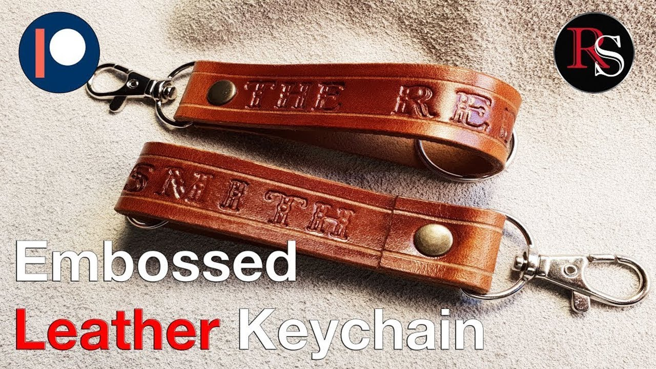Making A Embossed Leather Keychain - Leathercraft - YouTube 58d65092b5c7