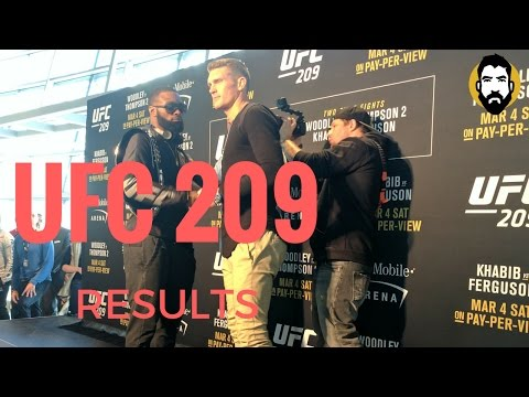 UFC 209 Results: Tyron Woodley vs. Stephen 'Wonderboy' Thompson, Alistair Overeem vs. Mark Hunt