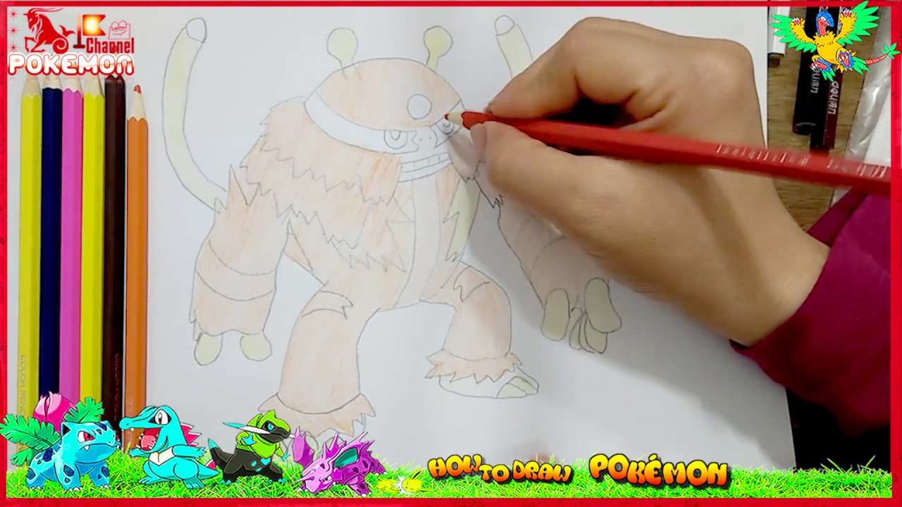 How To Draw Electivire Pokemon For Kids Coloring Pages For Kids To Learn  Colors