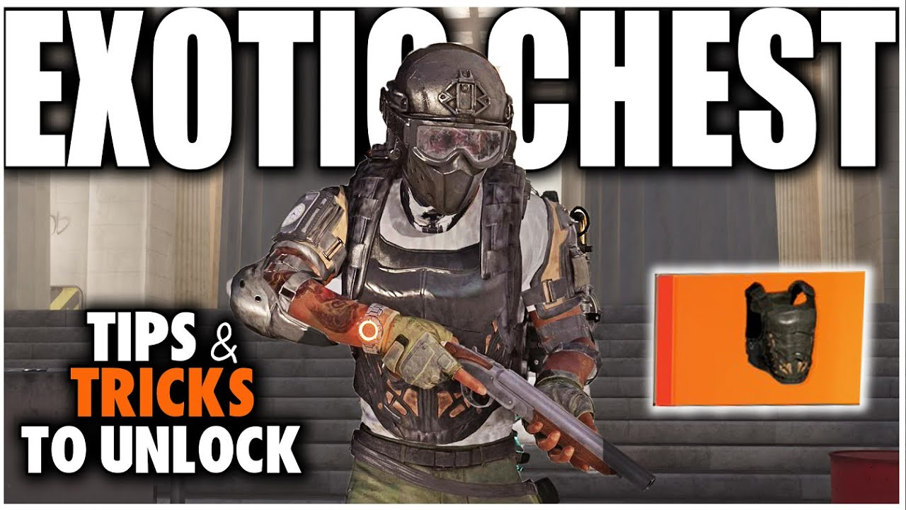 The Division 2 How To Get The New Exotic Chest Piece Tardigrade How It Works Youtube
