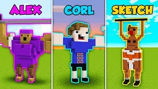 Baixar ALEX vs CORL vs SKETCH - BUFF PALS in Minecraft! (The Pals)