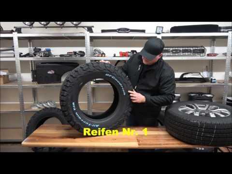 Offroad und Gelände Reifen beim Ford Ranger 2016 / 2012