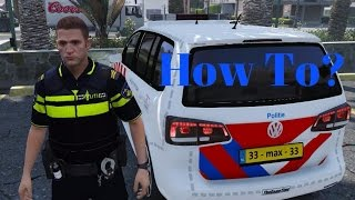 [GTA V] Hoe installeer ik LSPDFR Kleding/auto I How to install LSPDFR (With Dutch commentary) I