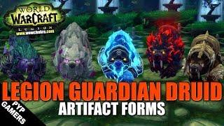 [#WoW] Legion Guardian Druid all Artifact forms | World of Warcraft Legion
